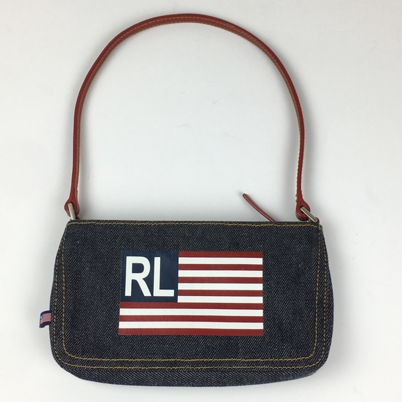 Ralph Lauren Polo Small Denim Purse Flag. M 5b93364aa31c3320c80eff4d 62e04bdb7182e